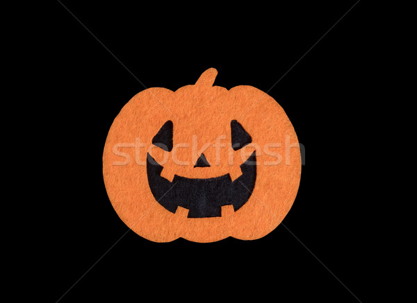 Bright scary pumpkin decoration isolated on black background  Stock photo © tab62