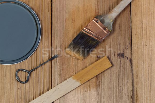 Staining untreated Cedar wood with natural stain  Stock photo © tab62