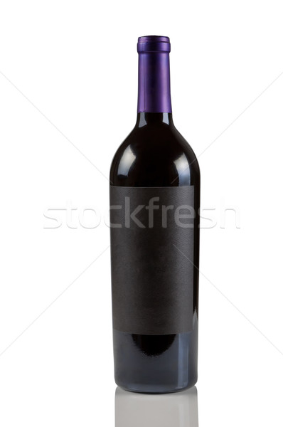 Single Red Wine Bottle on White  Stock photo © tab62