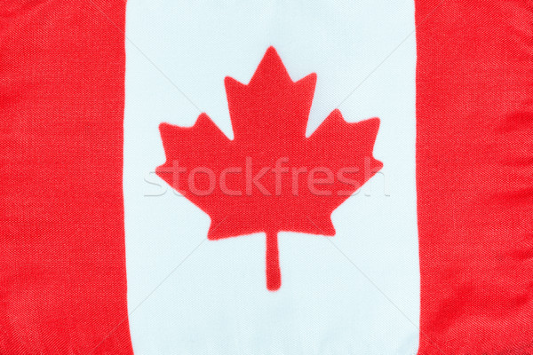 Canadian flag made of cloth Stock photo © tab62
