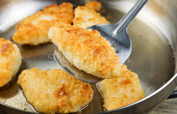 Golden Fried Fish in Pan  Stock photo © tab62