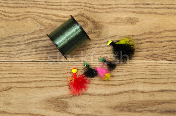 Spool of Fishing Line with Lures  Stock photo © tab62
