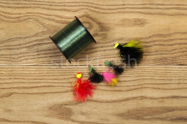 Carretel pescaria linha horizontal topo ver Foto stock © tab62