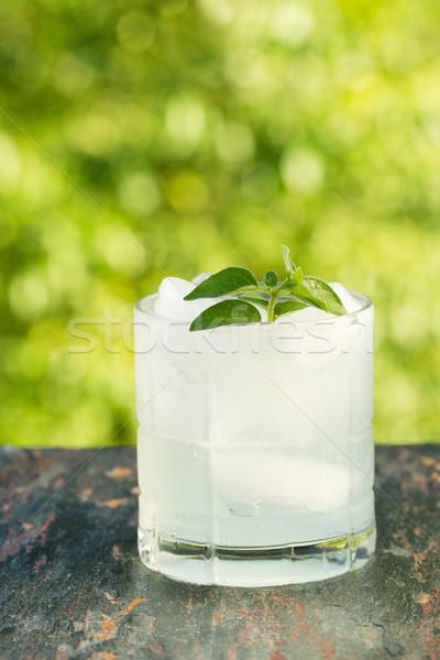 Gelo bebida fria ao ar livre vertical ver Foto stock © tab62