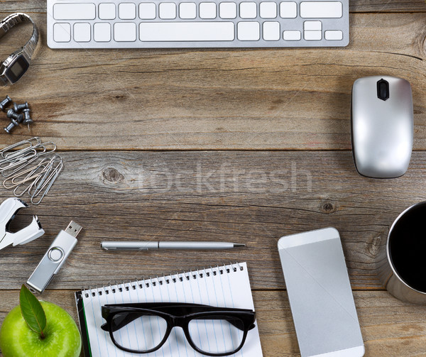 Quick desktop setup for workplace  Stock photo © tab62