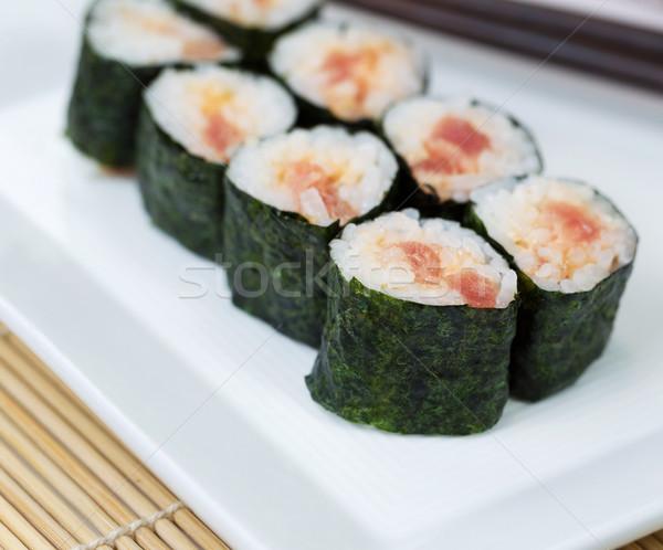 Fresh Spicy Tuna Hand Roll Sushi  Stock photo © tab62