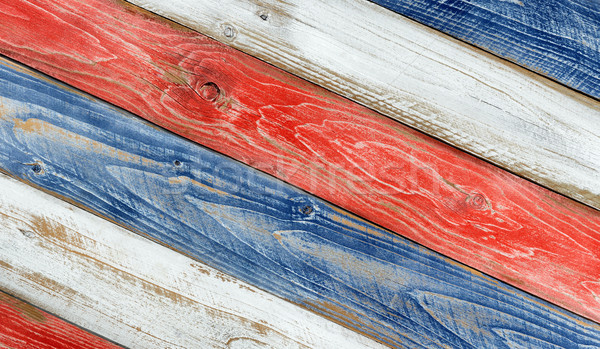 Angled faded boards painted in USA national colors Stock photo © tab62