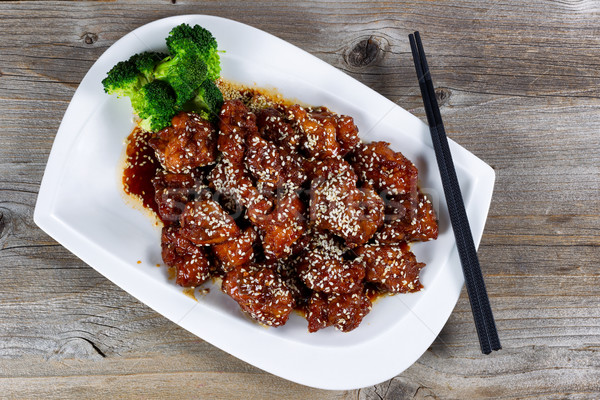 Sésamo pollo hortalizas listo comer alto Foto stock © tab62
