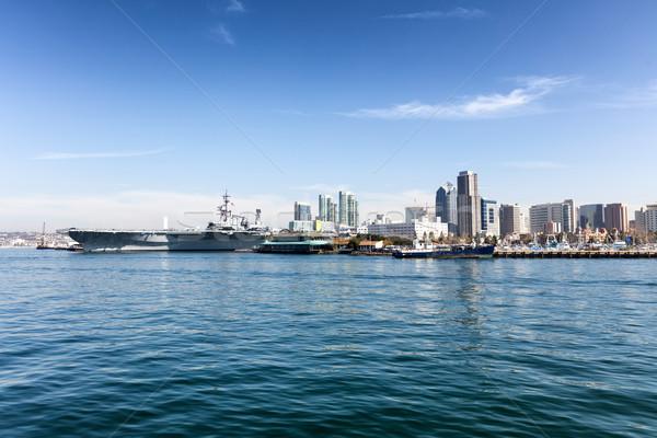 San Diego linha do horizonte oceano ver Califórnia brilhante Foto stock © tab62