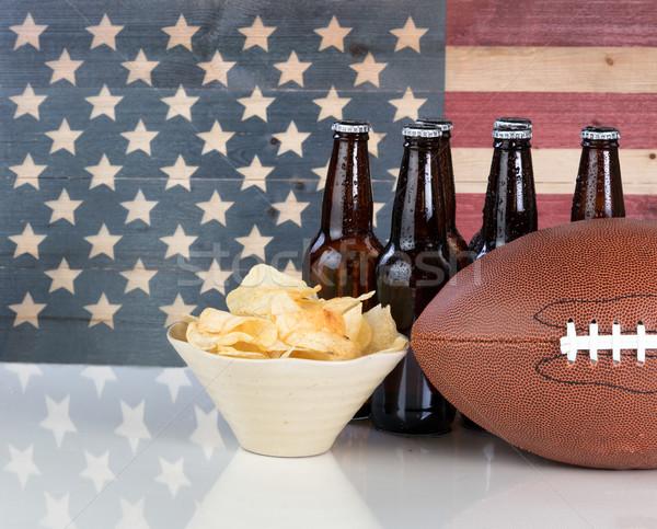 Amerikan futbol gıda içmek Amerika Birleşik Devletleri Stok fotoğraf © tab62