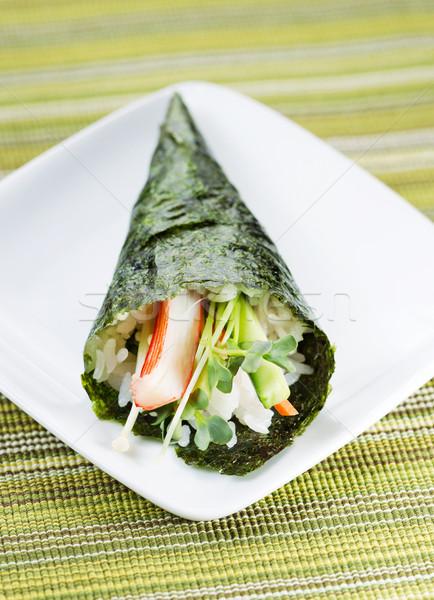 индивидуальный суши конус небольшой белый пластина Сток-фото © tab62