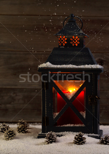 Izzó lámpás ünnepek függőleges elöl kilátás Stock fotó © tab62