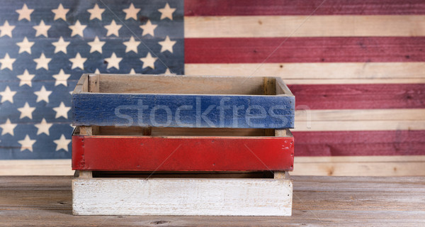 Fourth of July crate on rustic wood  Stock photo © tab62