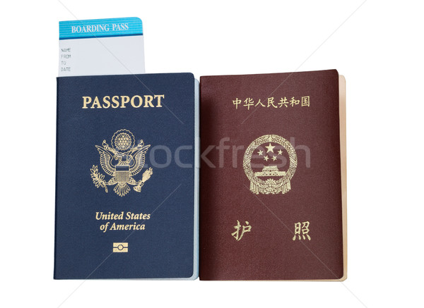 Passports from USA and China  Stock photo © tab62