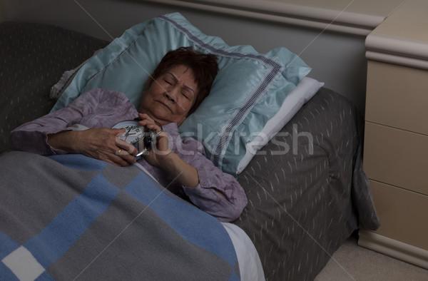 старший женщину тревогу бессонный ночь Сток-фото © tab62