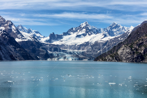 Alaszkai gleccser nyár idő folyik lebeg Stock fotó © tab62