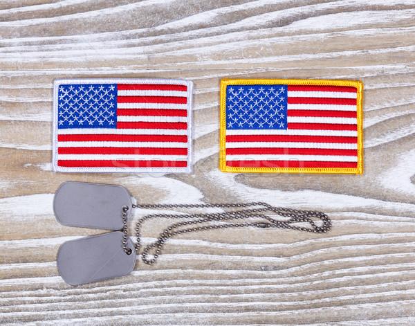 小 米国 フラグ 軍事 イド ストックフォト © tab62