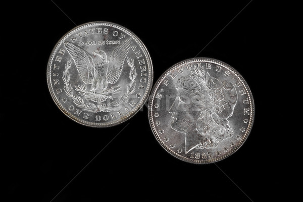 Front and backside of high quality Silver Dollar Stock photo © tab62