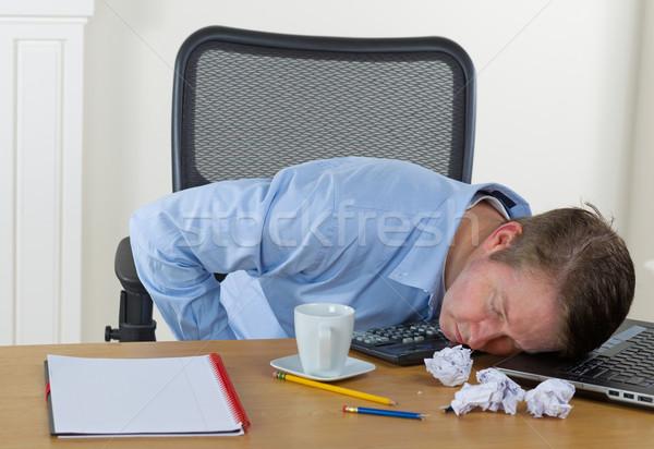 Mature man falling asleep at work  Stock photo © tab62