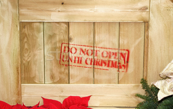 Wooden crate with gift inside for Christmas Stock photo © tab62