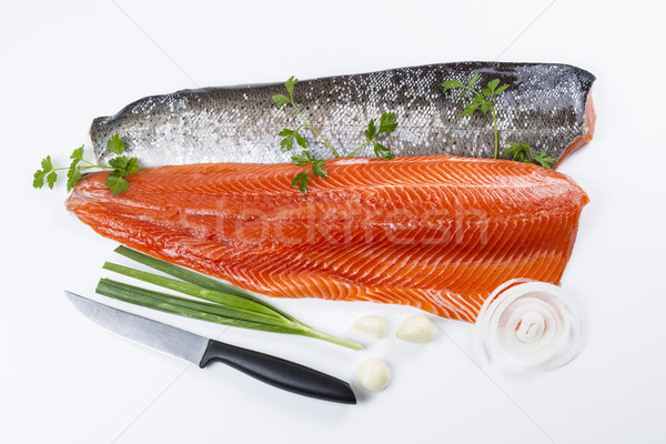 Vers zalm vis kruiden wild peterselie Stockfoto © tab62