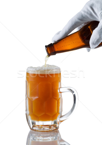 Fresh beer being poured by server  Stock photo © tab62