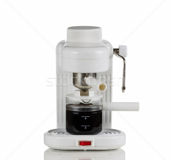 Cappuccino Maker on White  Stock photo © tab62