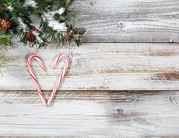 Рождества конфеты формы сердца грубо Сток-фото © tab62