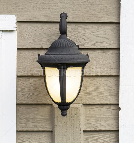 屋外 家 光 写真 電気 ランプ ストックフォト © tab62