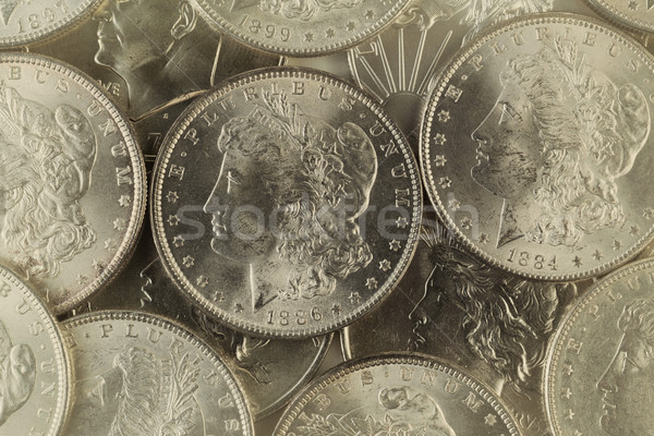 Old Silver coins from United States  Stock photo © tab62