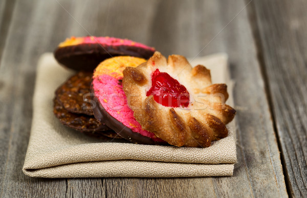Cookies ткань салфетку древесины Сток-фото © tab62