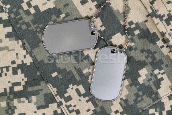 Close up of military uniform and identification tags with neck c Stock photo © tab62