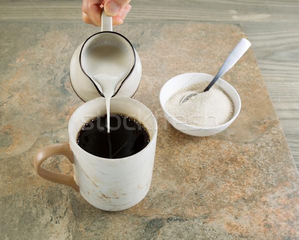 Café creme foto feminino mão Foto stock © tab62