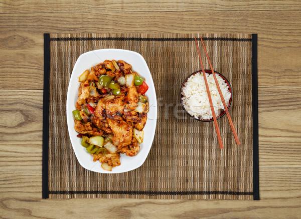 辛い 中国語 鶏 皿 ボウル コメ ストックフォト © tab62