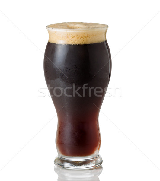 Tall Shapley Glass filled with cold dark beer  Stock photo © tab62