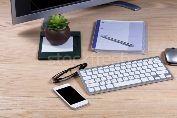 Clean working desktop with select focus  Stock photo © tab62
