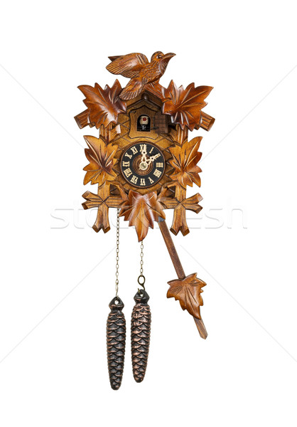 Traditional Cuckoo Clock Sounding on the Hour  Stock photo © tab62