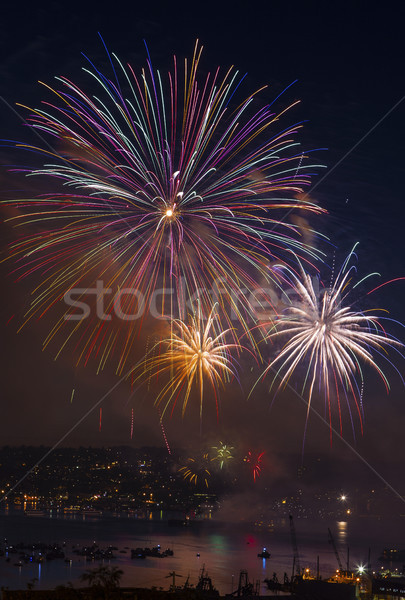 Wiel vuurwerk groot zoals af Stockfoto © tab62