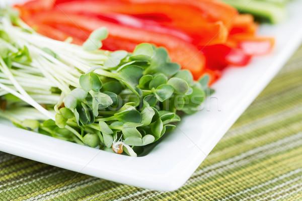 新鮮な 大根 寿司 クローズアップ 水平な ストックフォト © tab62