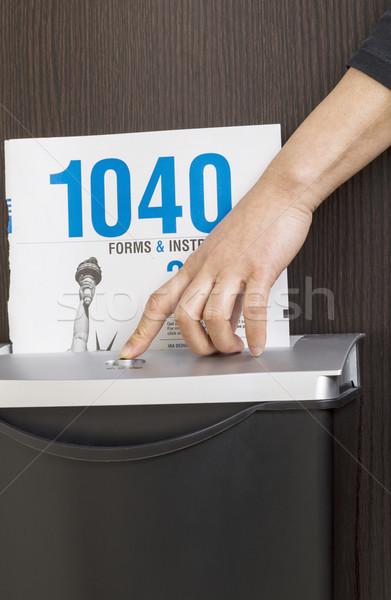 Yeterli gelir vergi kadın el Stok fotoğraf © tab62