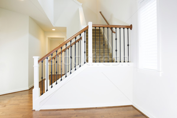 Residential Home with Woodend Floors and Custom Staircase  Stock photo © tab62
