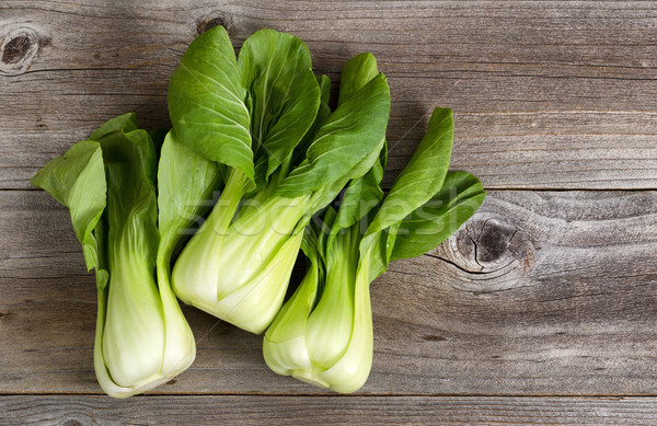 Fresh Chinese Cabbage on Rustic Wood  Stock photo © tab62