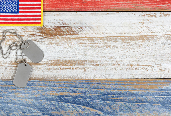 Red, white, and blue small American flag for Memorial Day or Vet Stock photo © tab62