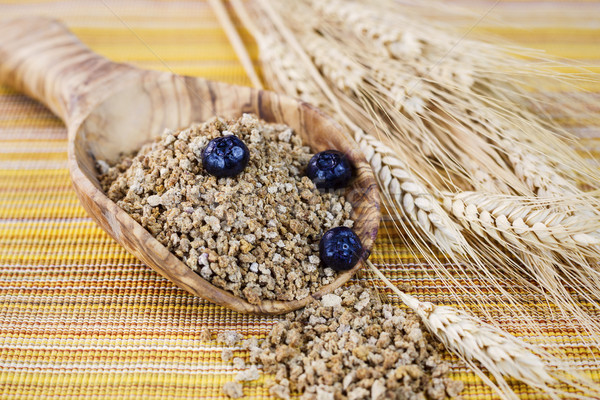Whole Grain Cereal in Wooden Spoon  Stock photo © tab62