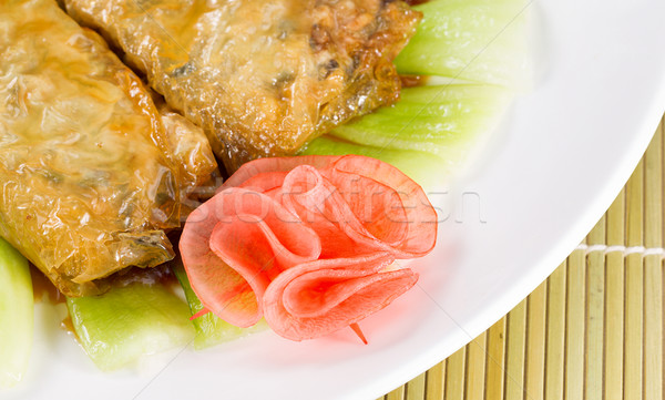 Fine Asian Meat in Wraps with Vegetables  Stock photo © tab62