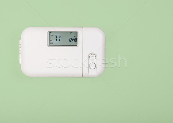 Ev sıcaklık termostat içinde ayarlamak bir Stok fotoğraf © tab62
