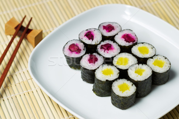 Cucumber Sushi ready to eat  Stock photo © tab62