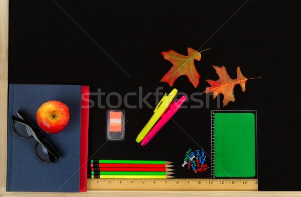 Lousa material escolar de volta à escola Foto stock © tab62