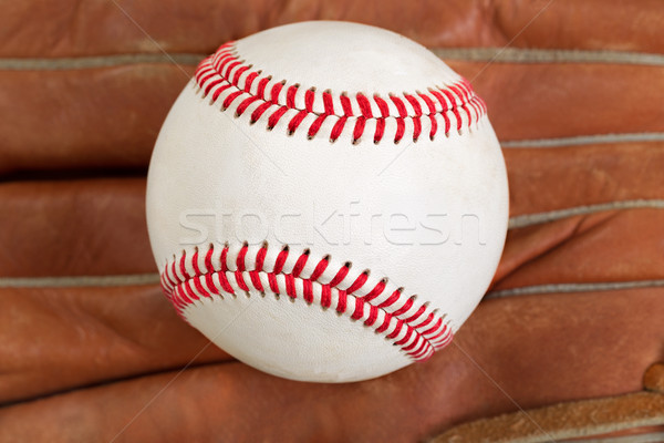 Used baseball and glove in filled frame format  Stock photo © tab62