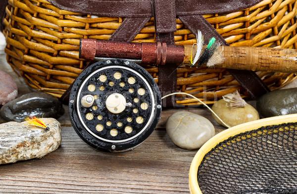Wet antique fishing gear  Stock photo © tab62